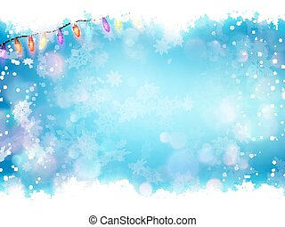 Flying snowflakes on a blue background. EPS 10