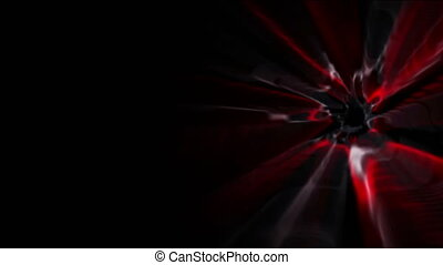 Glowing lights on black background