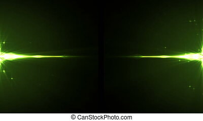 Glowing lines on black background