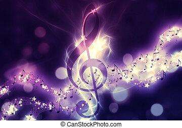 glowing, música, fundo
