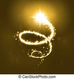 Glowing magic spiral