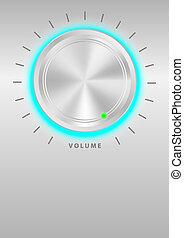 Metallic Volume Knob - Glowing Metallic Volume Knob On ...