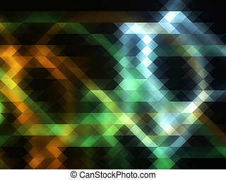 Glowing mosaic effect
