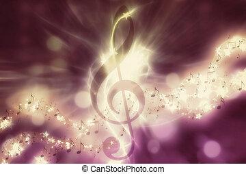 Glowing music background