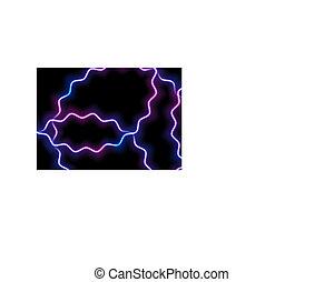 Glowing neon blue purple wavy lines background