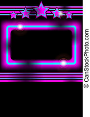 Glowing Neon Frame - Abstract Background - Glowing Frame on...