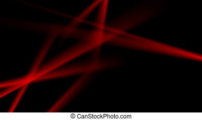 Glowing neon red smooth stripes video animation