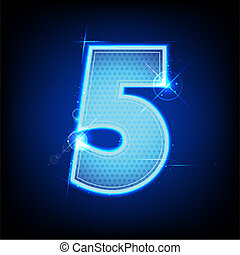Glowing Number Five