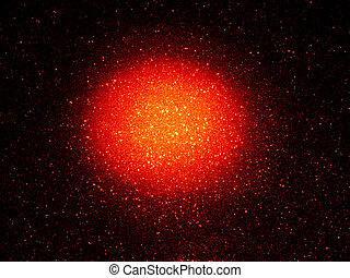 Glowing orange abstract - starry background