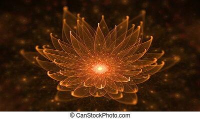 Glowing Orange Lotus, Water Lily