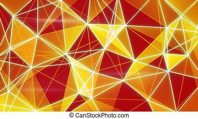 glowing orange network background