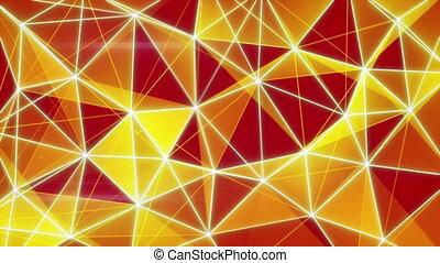 glowing orange network background seamless loop