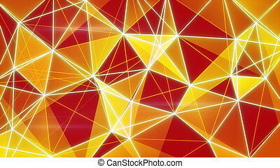 glowing orange network background