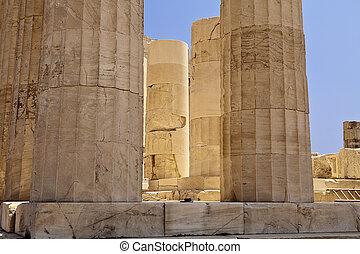 Glowing Pillars Of The Parthenon