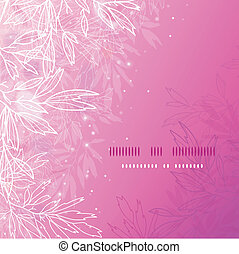 Glowing pink tree branches square template background