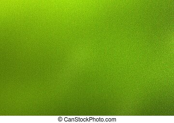 Glowing polished green wave metallic wall, abstract texture background