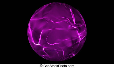 Glowing purple energy ball over transparent background