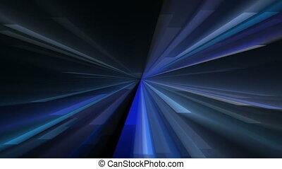 Glowing radial lights - Glowing geometric shapes radiating...