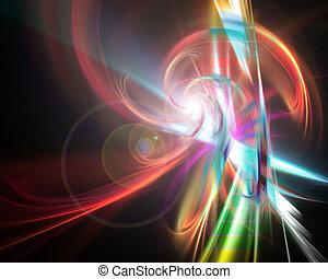 Glowing Rainbow Fractal