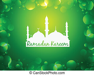 glowing ramadan kareem background