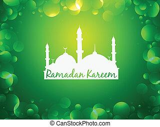 glowing ramadan kareem background