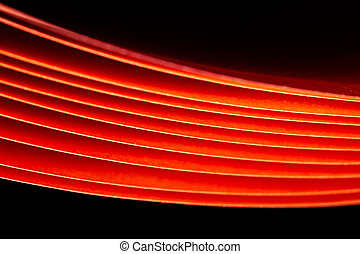 Glowing red paper background