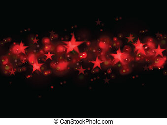 Glowing red stars dark illustration