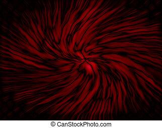 Glowing Red Swirl