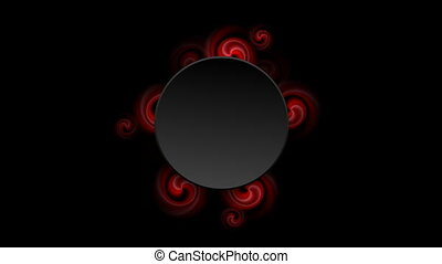 Glowing red swirl shapes video animation