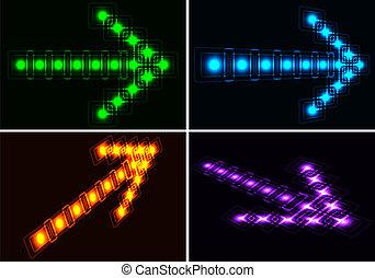 Glowing set arrows