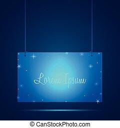 Glowing Sign Illustration