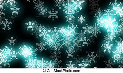 Glowing Snowflakes Loop
