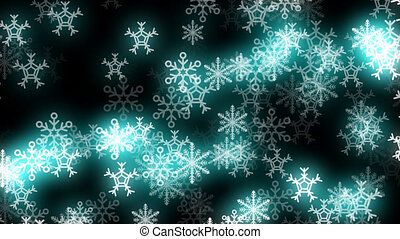 Glowing Snowflakes Loop
