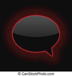 Glowing Speech Bubble. Vector Illustration