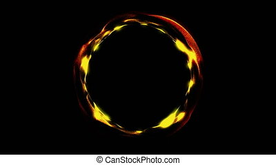 Glowing spiral ring. Abstract digital background. Seamless...