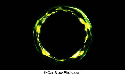 Glowing spiral ring. Abstract digital background