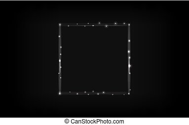 Glowing square border. Abstract vector illustration