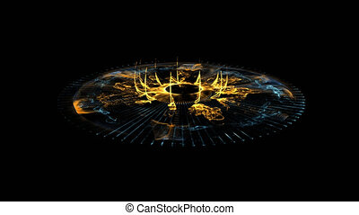 Glowing Stargate Event Horizon Portal. Time travel, Outer ...