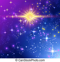 Background with glowing stars