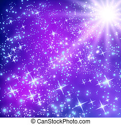Glowing stars - Background with glowing stars