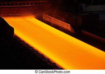 Glowing Steel in a Steelwork