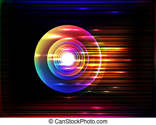 glowing stripes, vector