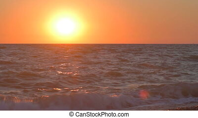 Glowing sunset over the Black Sea