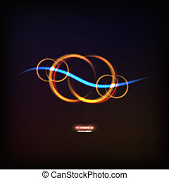 glowing symbol of infinity