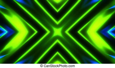 Glowing tunnel streaks of light loop