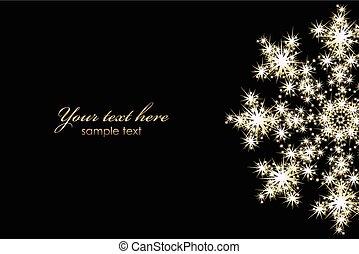 glowing, vetorial, snowflake, fundo