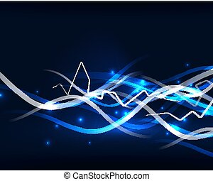 Glowing wavy lines template