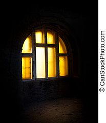 Glowing window