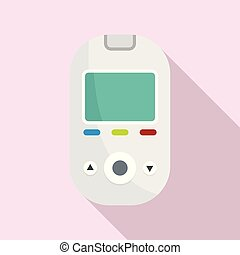 Glucometer tool icon, flat style
