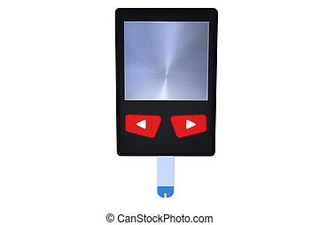 Glucose meter - Digital glucose meter in 3d